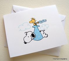 Delightful Snoopy, Baby Boy, Note Cards, Invitations, Thank You, Baby Shower