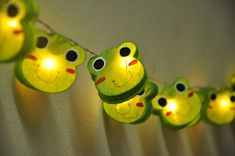 35 Bulbs Cutie Frog mulberry paper Lanterns Garland for wedding party decoration on Etsy, $18.50