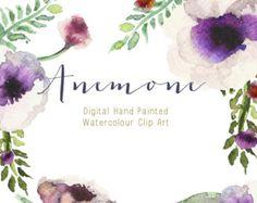Acrylic Flowers Hand Painted Clip Art от SmallHouseBigPony
