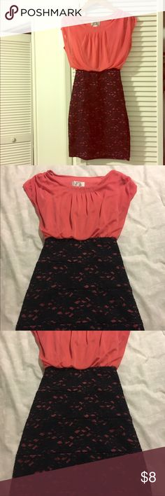 Pink and Black Floral Dress Pink and Black Floral Dress. Short. Size Small. Dresses