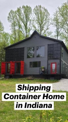 Tiny House Cabin, Tiny House Plans, Container House Design, Small House Design, Tiny Modular Homes, Shipping Container Homes, Shipping Containers, Wooden Pallet Beds, Barndominium Floor Plans