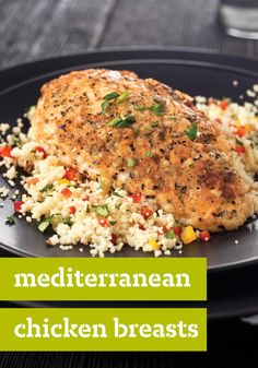 Mediterranean Chicken Breasts – Boneless chicken breasts are cooked in a flavorful coating of breadcrumbs, pecorino Romano cheese and basil until tender and crispy.