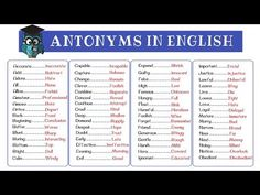 8.5Kshares Learn an extensive list of 300+ Opposites in English from A-Z with examples and pictures. An opposite (antonym) is one of …
