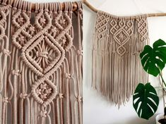 macrame wall hanging / cotton / knotted wall hanging/ boho / beige wall hanging / modern macrame / boho home decor / boho wall hanging Macrame Wall Hanging Patterns, Large Macrame Wall Hanging, Macrame Plant Hangers, Macrame Patterns, Peacock Crochet, Driftwood Macrame, Macrame Design, Macrame Tutorial, Macrame Projects