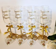 Personalised Gift Shop, Flutes, Beautiful Gifts, Party Gifts, Color Schemes, Hearts, Colours, Bridal, Instagram