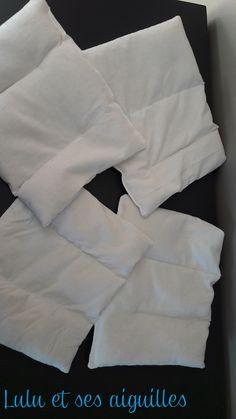 Des chutes de tissu et du riz ... et voici 4 bouillotes pour l'hiver