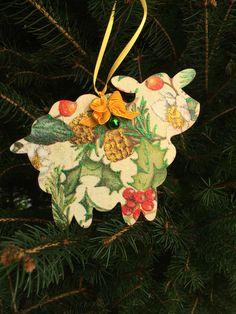 Christmas decoration, Decorazione di Natale Decoupage
