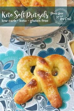 All of the delicious chewiness of a real soft pretzel, but low carb and keto friendly. The keto soft pretzels are sure to impress. Grab a copy of Keto Happy Hour - Here Gluten Free Recipes, Low Carb Recipes, Real Food Recipes, Diet Recipes, Tortilla Recipes, Healthy Recipes, Party Recipes, Bread Recipes, Low Carb Bread