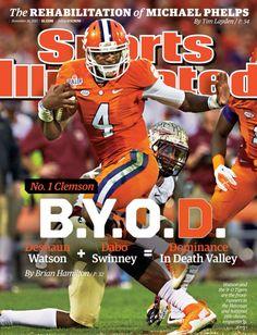 Photo: Deshaun Watson on cover of Sports Illustrated - Deshaun Watson Clemson Football Player Update | TigerNet