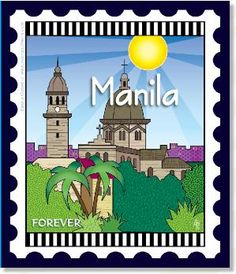 Zebra Patterns Mini City Stamp Panel Manila