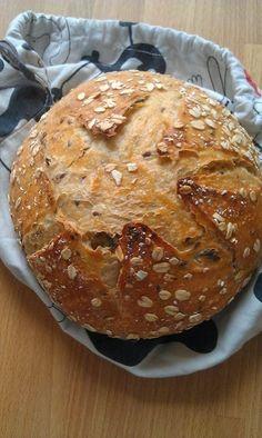 5 perces kenyér - evolúció Baking And Pastry, Bread Baking, Snack Recipes, Cooking Recipes, Snacks, Vegan Bread, Hungarian Recipes, Food To Make, Bakery