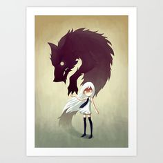 Werewolf Art Print by Freeminds | Society6