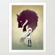 Werewolf Art Print by Freeminds | Society6