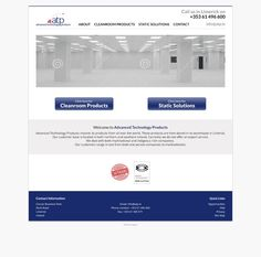 Homepage needed for 30 year old Cleanroom Products company by Kimmelivim