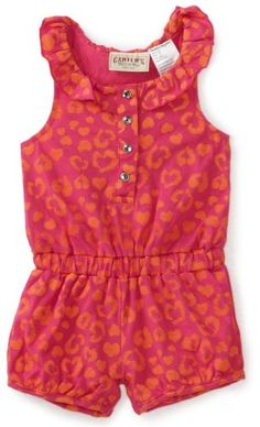 Carters Baby-Girls Infant Leopard Print Sleeveless Romper, Fuschia Purple, 12 Months $12.60