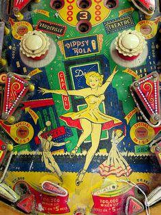 vintage pinball by ercwttmn, Fairground Games, Pinball Wizard, Retro Arcade, Gambling Games, Arcade Games, Pinball Games, Video Games For Kids, Vintage Games, Jouer