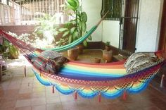 Rainbow magic Two, Beautiful single size hammock, Rainbow colors combination with Special Fringe    $42