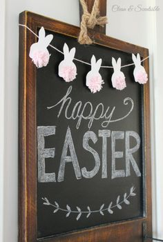 Adorable Easter bunny bunting with free template. Love those baker's twine pom p… Adorable Easter bunny bunting with free template. Love those baker's twine pom pom tails! Hoppy Easter, Easter Bunny, Easter Tree, Easter Eggs, Spring Crafts, Holiday Crafts, Holiday Ideas, Diy Osterschmuck, Fun Diy