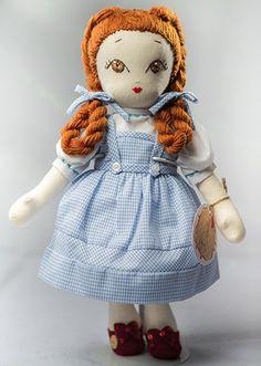 Dorotea - Handmade Collection Cloth Dolls by Manolitas Doll Toys, Dolls Dolls, Rag Dolls, Felt Quiet Books, Sewing Dolls, Waldorf Dolls, Soft Dolls, Doll Crafts, Sewing For Kids