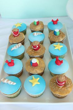 Beach Cupcakes by Sharon Wee Creations, via Flickr