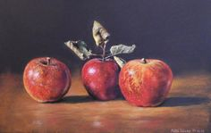 Still life Archives - Máté Sándor Artwork Still Life, Pastel Paintings, Apple, Fruit, Artwork, Food, Apple Fruit, Work Of Art, Auguste Rodin Artwork
