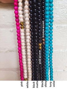 Custom handmade double wrap beaded necklace - choose options for bead color and accent bead color. Reference photos in listing for some popular bead