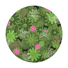 Girly Punk Skulls on Flower Camo background Pack Of Small Button Covers Girly Punk Skulls on Flower Camo background Seamless Repeat Pattern Vector Illustration © and ® Bigstock® - All Rights Reserved. #art #background #bow #camo #camouflage #clip-art #...