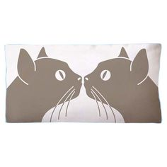 Cotton canvas pillow with a cat motif.    Product: PillowConstruction Material: 100% Cotton canvas cover and poly...