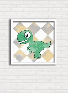 Poster/quadro Infantil - Dinos Aquarelados 1 - Just Lia TO8032