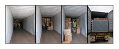 Packing Service, Inc. loading a container with one of our client's furniture and other belongings.