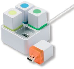 Cubes with three highlighters and one USB flash drive Gadgets And Gizmos, Technology Gadgets, Tech Gadgets, Really Cool Gadgets, Must Have Gadgets, Usb Drive, Usb Flash Drive, Hub Usb, Inspector Gadget