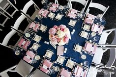 navy,blush and silver weddings | Silver, Blush and Navy Wedding Inspiration / navy and pink
