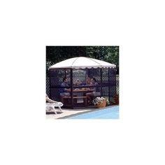 "Gazebo Canopies Casita Round Screenhouse - 11' 1"" - Almond"