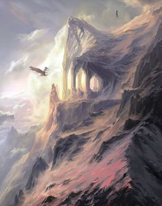 The peaks of the Crissaegrim, wherein the eyries of Thorondor and the great Eagles of the North lay.