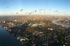Fifty hot air balloons lifted off from Shoreditch Park and filled the blue sky over London to raise cash for good causes through the Lord Mayor's Appeal.