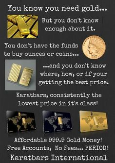 Gold in small units from Karatbars International Make Money Online, How To Make Money, Silver Investing, Home Based Business Opportunities, Buy Gold And Silver, Vegan Recipes Beginner, Gold Money, Investment Portfolio, Gold Bullion