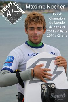 Maxime Nocher membre de la Team Sport AZ Bracelet Tahitien