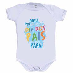 Body 1º Dia dos Pais com o Papai Azul - leaoleaozinho.com.br