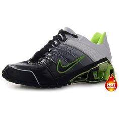 128ac84d164 www.asneakers4u.com Mens Nike Shox NZ 2 Black Green White Cheap Nike Roshe