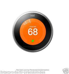 NEW NEST LEARNING THERMOSTAT HOME AUTOMATION 3RD GENERATION CONTROL TEMPERATURE
