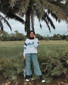 Pagi pagi happy , 🍃🍒❤️ Superr happy dapat jeans lagi dari @cheapstuff90s . Kalian yang kepo sama jeans2 aku beli dimana. Disini rahasianya… Modern Hijab Fashion, Hijab Fashion Inspiration, Muslim Fashion, Ootd Fashion, Modest Fashion, Fashion Outfits, Hijab Style Dress, Casual Hijab Outfit, Ootd Hijab