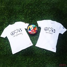 Who's team are you on for today's game?! Share your team photos with us! #peaceloveteam #peaceloveworld #france #germany #worldcup brasil2014