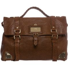 Mulberry Oversized Shiny Leather Day Satchel Bag
