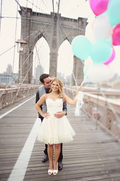 Brooklyn Bridge love  Photography By / http://kayenglishphotography.com