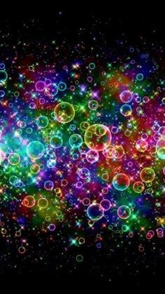 Rainbow Colored Soap Bubbles Android Wallpaper
