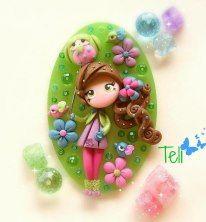 girl #polymer #clay