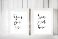 Two Frame Mockup, White Frame Mockup Graphics You do not Need Photoshop to use my mockups! In my tutorials I show you a FREE online editor to use by Kate Danielle Creative