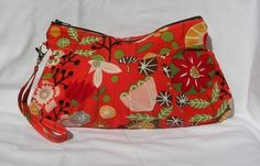 DESIGN YOUR OWN Wristlet wallet / Zipper Clutch Pouch. You Choose fabric - Personalization available