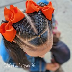 Easy Toddler Hairstyles, Easy Little Girl Hairstyles, Kids Curly Hairstyles, Natural Hairstyles For Kids, Cute Girls Hairstyles, Girl Hair Dos, Hair Due, Crazy Hair, Braid Ponytail
