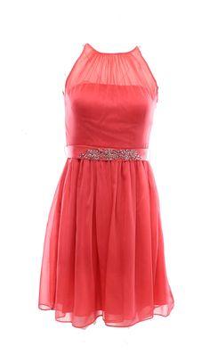 Adrianna Papell NEW Pink Coral Women's 6 Chiffon Sheer Sheath Dress $159